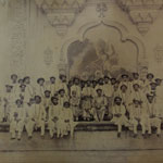 His Highness with His Sons and Community with the Emmanuel Painting on the walls of Laxmi Vilas