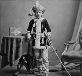 The young Maharaja from Kavlana