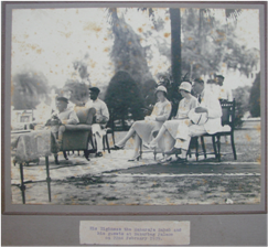 Maharaja Sayajirao and his guests at Nazarbaug palace