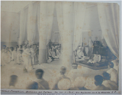 HH Sayajirao Gaekwad and Dewan VP Madhav Rao in Patan vasant Panchmi Darbar on 10-1-1915