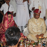 HH Samarjitsinh Gaekwad and his wife, Radhikaraje at the Coronation Ceremony (2)