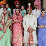 HH Samarjitsinh Gaekwad with his Family